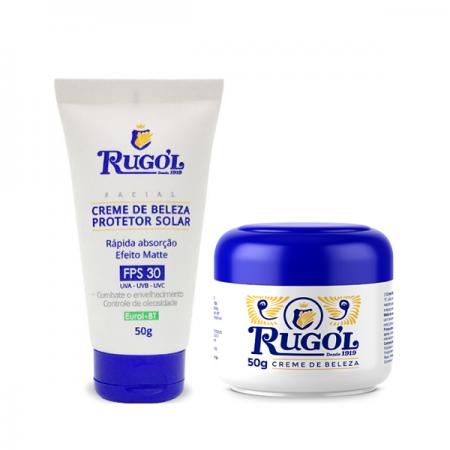 Rugol Creme de Beleza Protetor Solar FPS 30+Creme de Beleza Tradicional 50g