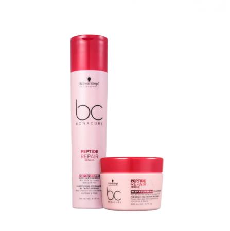 Schwarzkopf BC Bonacure Peptide Repair Rescue Deep Nourish Shampoo 250ml+Mascara 200ml