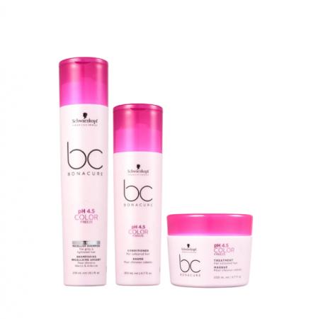 Schwarzkopf BC Bonacure pH 4.5 Color Freeze Micellar Silver Home Care Trio (3 Produtos)