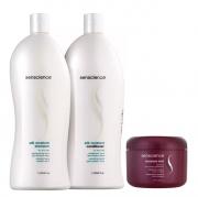 Senscience Silk Moisture Shampoo+Condicionador 1L+Leave-in Moisture Lock 150ml