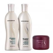 Senscience Silk Moisture Shampoo+Condicionador 300ml+Leave-in Moisture Lock 150ml
