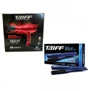 Taiff Secador de Cabelo Red Ion 1900W+Chapinha Taiff Blue Ion 200c°