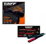 Taiff Secador New Smart 1700w + Chapinha de Cabelo Elegance Red Íon 200C