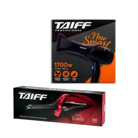 Taiff Secador New Smart 1700w+Curves Modelador De Cachos 3/4