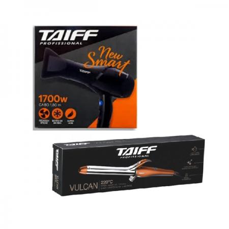 Taiff Secador New Smart 1700w+Vulcan Modelador de Cachos 1