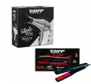 Taiff Secador Style Pro 2000W 127V+Chapinha Elegance Red Ion 200°
