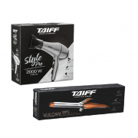 Taiff Secador Style Pro 2000W 127V+Vulcan Modelador de Cachos 1