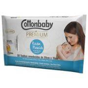 Toalha Umedecida Cottonbaby Premium Recém Nascido Com 50 Unidades