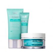 Tracta Antiacne - Hidratante Facial 40g+Gel Secativo para Acne 15g+Anti-Idade Hidra Acquagel 45g