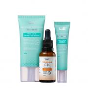 Tracta Antiacne - Hidratante Facial 40g+Gel Secativo para Acne 15g+Serúm Facial Vitamina C 30ml