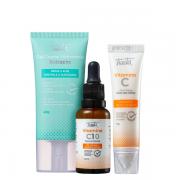 Tracta Antiacne - Hidratante Facial 40g+Vitamina C Serúm Facial 30ml+Creme Area dos Olhos 15g
