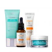 Tracta Antiacne Hidratante Facial 40g+Vitamina C Serúm Facial 30ml+Creme Area dos Olhos 15g+Hidra Aquagel 45g