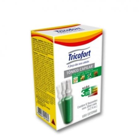 Tricofort Tônico Capilar Ação 3 Em 1 Caixa C/6 Ampolas 20ml