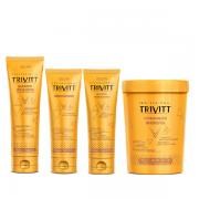 Trivitt Shampoo Pós-Quimica 280ml+Condicionador+Leave-in 250ml+Hidratação Intensiva 1Kg
