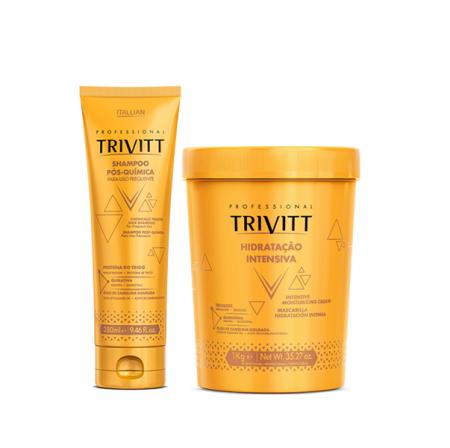 Trivitt Shampoo Pós-Quimica 280ml+Hidratação Intensiva 1Kg