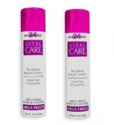 Vital Care Hair Spray Mega Freeze 24 Hour Hold 283g C/2