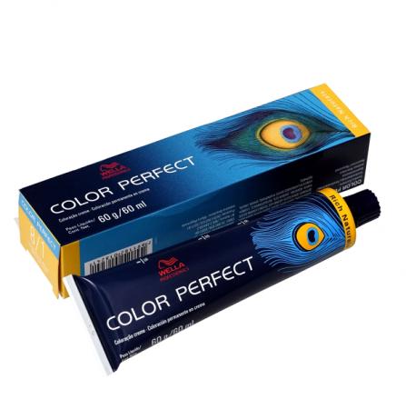 Wella Color Perfect 8.1 Louro Claro Acinzentado - Coloração Permanente 60g