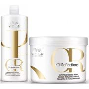 Wella Kit Oil Reflections Shampoo 1000ml + Mascara 500ML