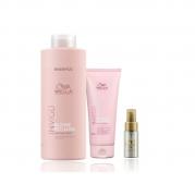Wella Professionals Blonde Recharge - Shampoo 1000ml+Condicionador 200ml+Oil Reflections Light 30ml