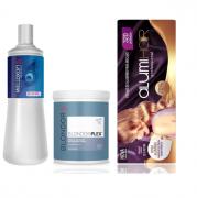 Wella Professionals Blondor Plex n°1 800g+Welloxon Perfect 9% 30V 1L+Folhas de Alumínio Alumi Hair 320 Un