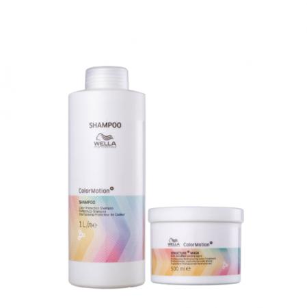 Wella Professionals Color Motion+ - Shampoo 1L+Mascara 500g
