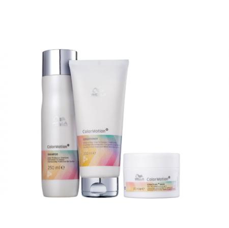 Wella Professionals Color Motion+ - Shampoo 250ml+Condicionador 200ml+Mascara 150ml