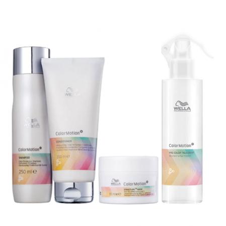 Wella Professionals Color Motion+ - Shampoo 250ml+Condicionador 200ml+Mascara 150ml+Pre Color 185ml