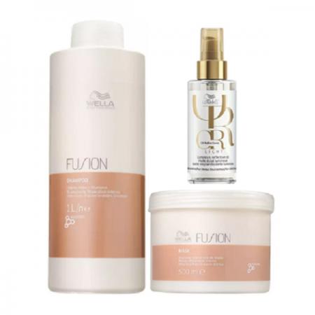 Wella Professionals Fusion Shampoo 1L+Mascara 500g+Oil Reflections Light 100ml
