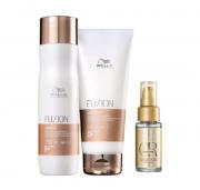 Wella Professionals Fusion Shampoo 250ml+Cond 200ml+Luxe Oil 30ml