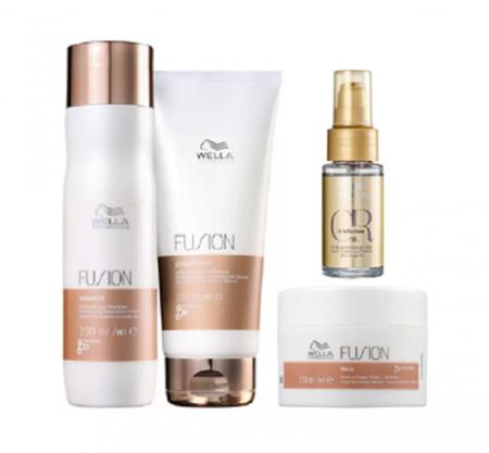 Wella Professionals Fusion Shampoo 250ml+Cond 200ml+Mascara 150ml+Oil Reflections 30ml