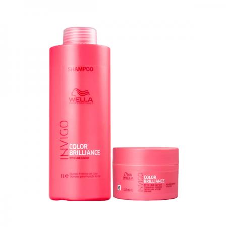 Wella Professionals Invigo Color Brilliance Shampoo 1l+Máscara 150ml