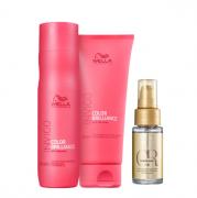 Wella Professionals Invigo Color Brilliance Shampoo 250ml+Condicionador 200m+Oil Reflections 30ml