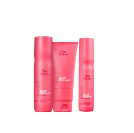 Wella Professionals Invigo Color Brilliance Shampoo 250ml+Condicionador 200ml+Leave-in 150ml