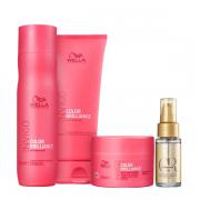 Wella Professionals Invigo Color Brilliance Shampoo 250ml+Condicionador 200ml+Mascara 150ml+Oil Reflections 30ml