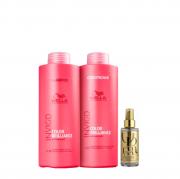 Wella Professionals Invigo Color Brilliance Shampoo+Condicionador 1L+Oil Reflections 100ml
