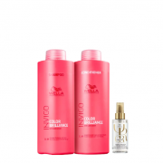 Wella Professionals Invigo Color Brilliance Shampoo+Condicionador 1L+Oil Reflections Light 100ml