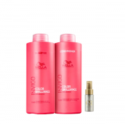 Wella Professionals Invigo Color Brilliance Shampoo+Condicionador 1L+Oil Reflections Light 30ml