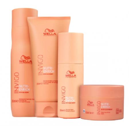 Wella Professionals Invigo Nutri-Enrich Shampoo 250ml+Condicionador 200ml+Mascara+Leave-in 150ml