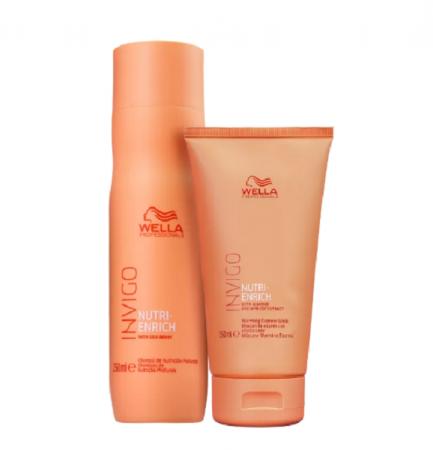 Wella Professionals Invigo Nutri-Enrich Shampoo 250ml+Mascara Warming Express 150ml