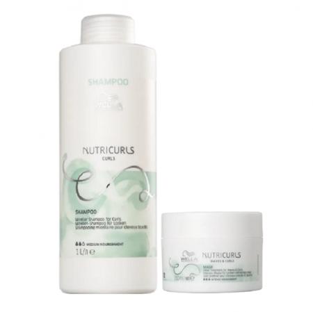 Wella Professionals Nutricurls Shampoo 1L+Máscara 150ml