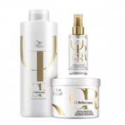 Wella Professionals Oil Reflections Shampoo 1L+Mascara 500g+Oil Light 100ml