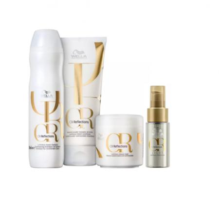 Wella Professionals Oil Reflections+ - Shampoo 250ml+Condicionador 200ml+Máscara Capilar 150ml+Oil Reflections  Ligth 30ml