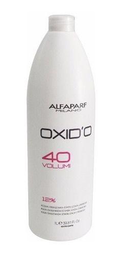 Alfaparf Oxido H2O2 Oxigenada Estabilizada Cremosa 40 Vol 1000ml