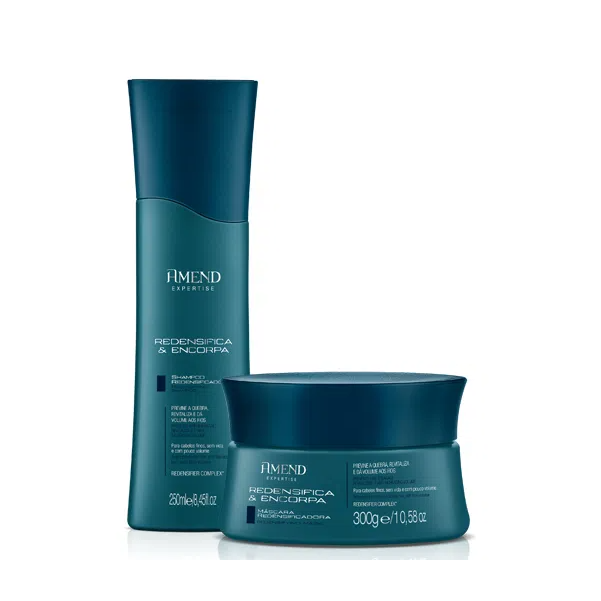 Amend Redensifica & Encorpa Shampoo 250ml +  Máscara 300g