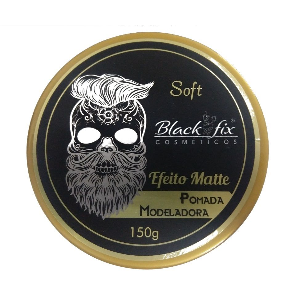 Black Fix Soft Pomada Modeladora Efeito Matte 150g