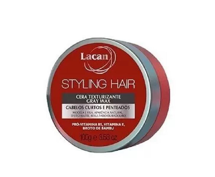 Cera Lacan Texturizante Gray Wax Styling Hair 100g