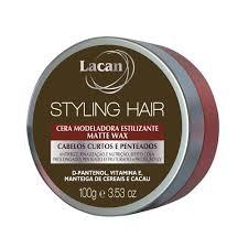 Cera Modeladora Estilizante Lacan Styling Hair Matte Wax 100g 6 Unidades