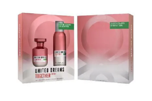 Cofret Benetton Colors Together for her  EDT 80ml + Desodorante body 150ml