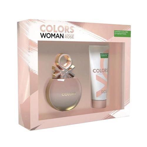 Cofret Benetton Colors Woman Rose EDT 80ml + Body Lotion 75ml