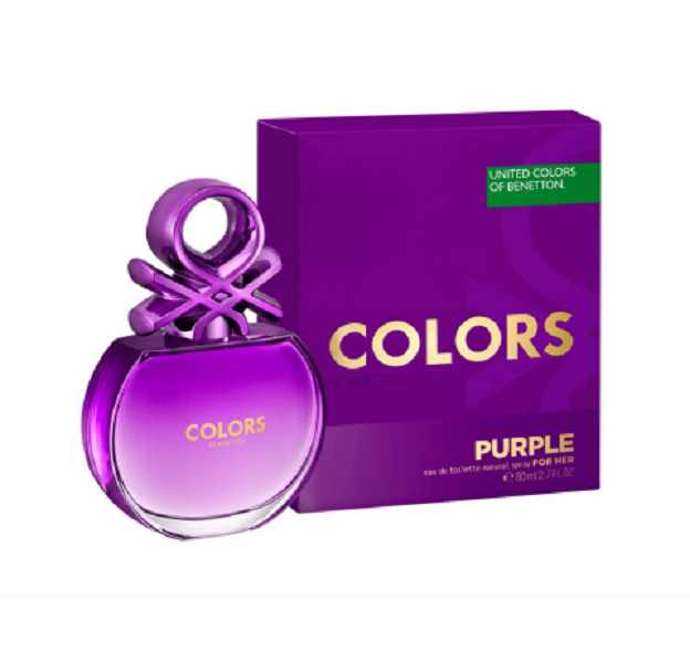 Colors Purple Benetton Eau de Toilette - Perfume Feminino 80ml